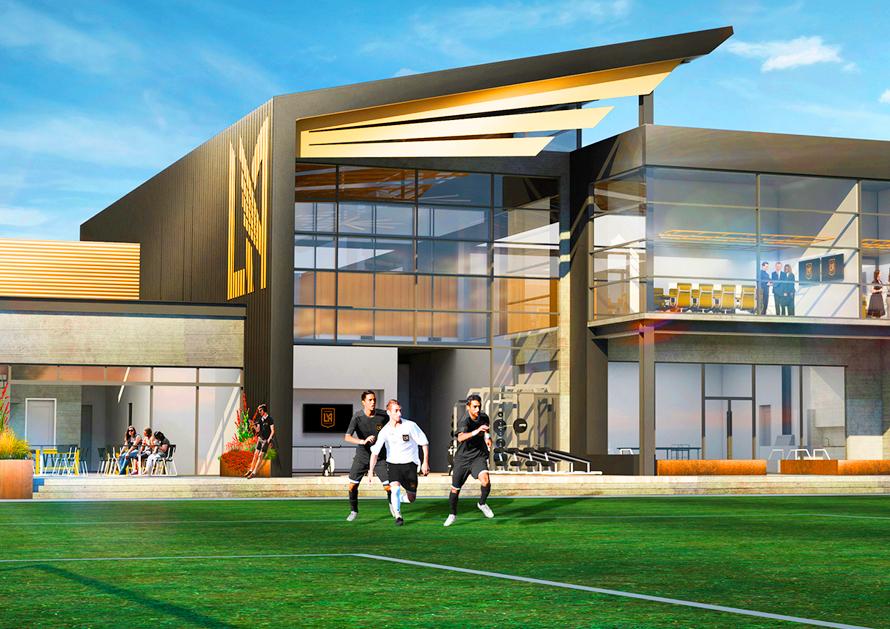 Illustration of the future LAFC training facility, courtesy of LAFC.