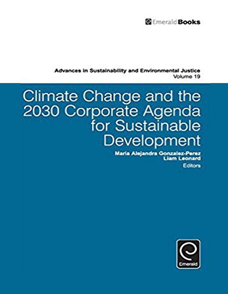 "Book cover for ""Climate Change and the 2030 Corporate Agenda for Sustainable Development"""