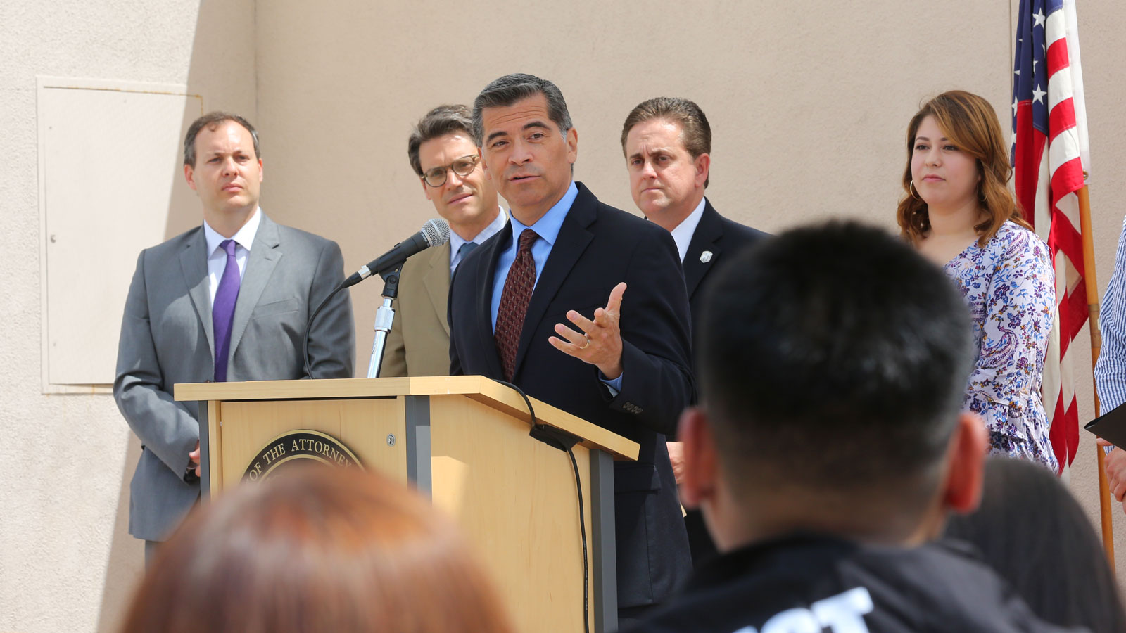 CA. Attorney General Xavier Becerra and Cal State LA Executive Vice President Jose A. Gomez announced their support for DACA.