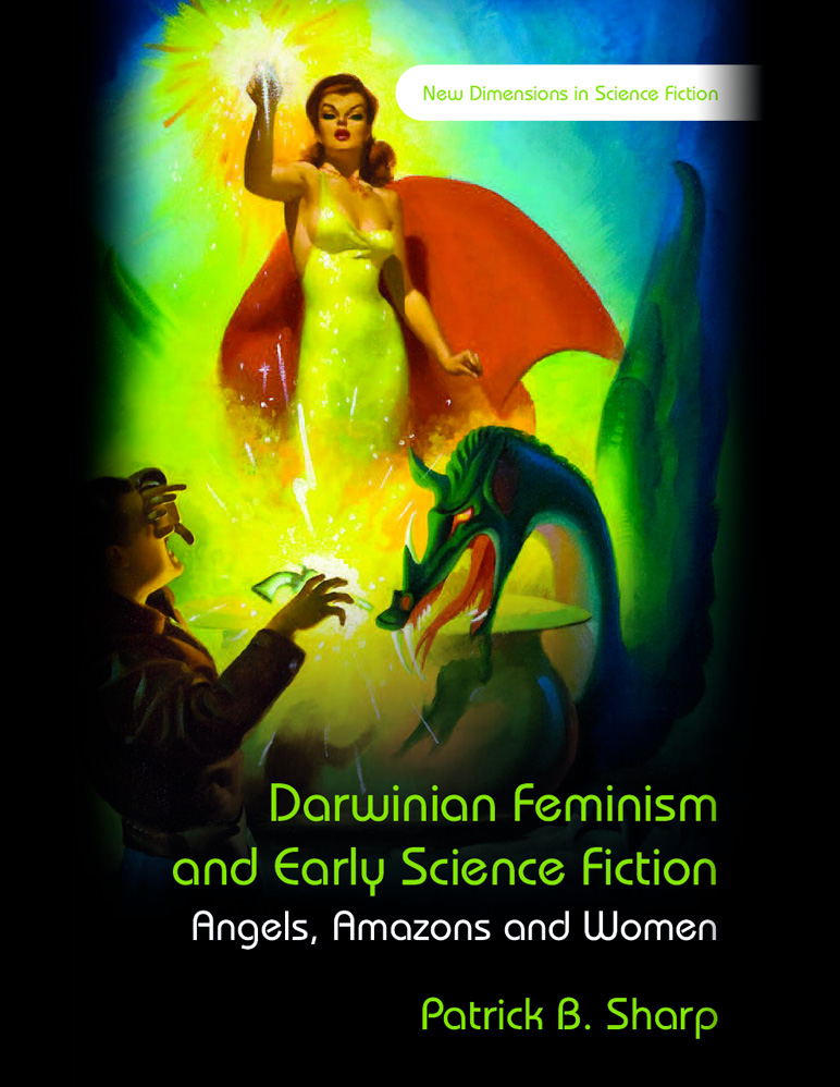 "Book cover for ""Darwinian Feminism and Early Science Fiction"""